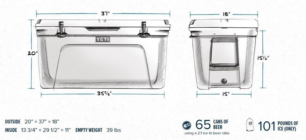 Yeti 110 Tundra Cooler Specifications