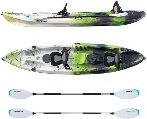 Driftsun Teton 120 Hard Shell Recreational Tandem Kayak
