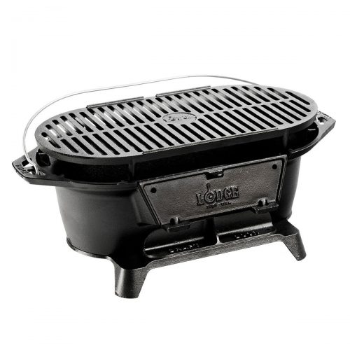 Lodge L410 Pre-Seasoned Sportsman's Charcoal Camping Grill