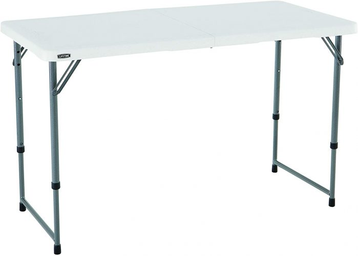 Lifetime Height Adjustable Craft Camping Table