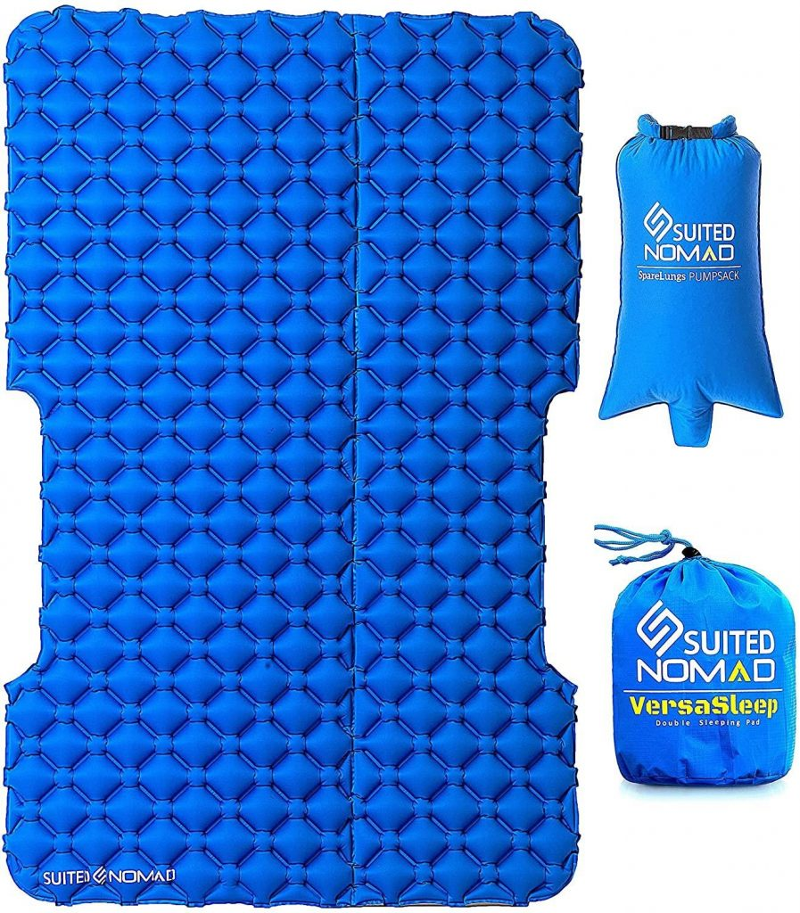SuitedNomad Double Sleeping Pad for Camping