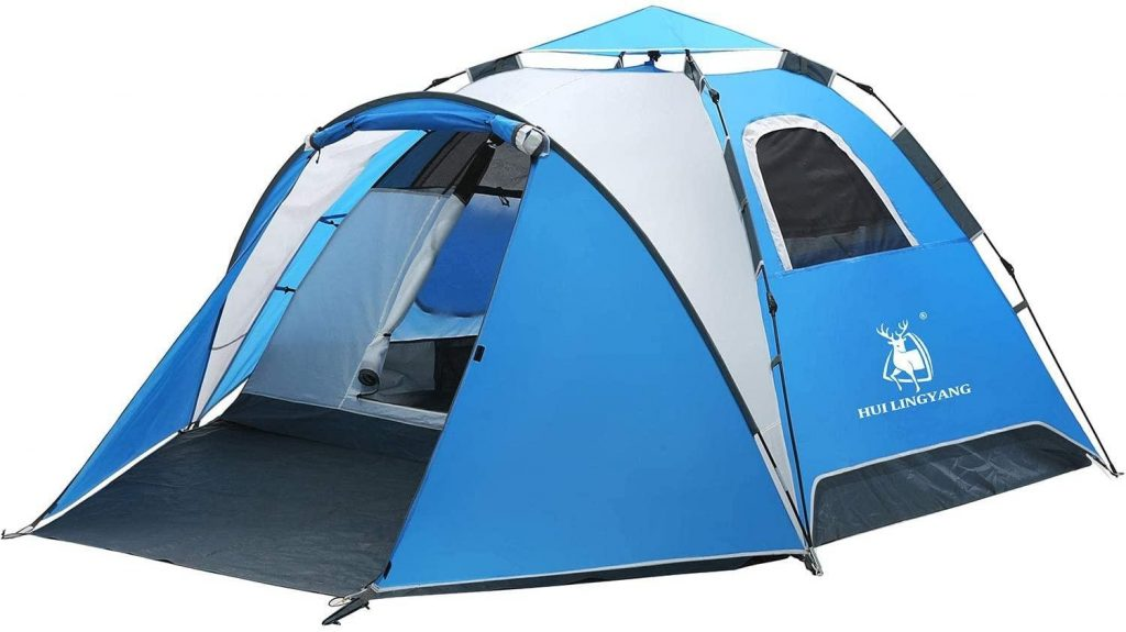 HUI LINGYANG 4 Person Pop Up Tent with Porch